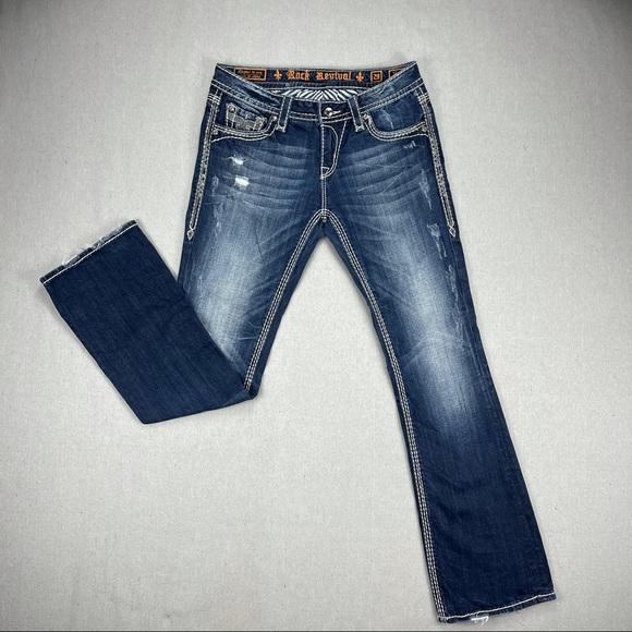 Rock Revival Vivian Boot Distressed Jeans 29
